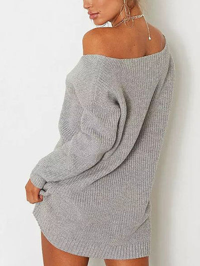Morgan V Neck Knit Sweater Top - 2 Love One