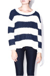 Striped Soft Ribbed Sweater - 2 Love One