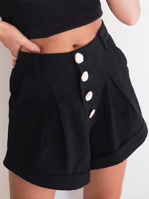 Nikki High-Waisted Button Shorts | 2 Love One