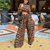 Oh My! Leopard Print Two-Piece Jumpsuit