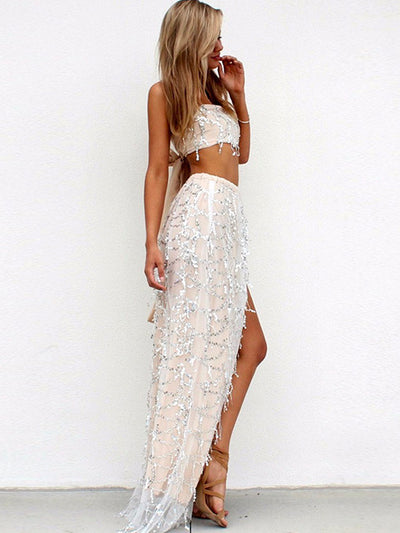 Paris Layered Lace Sequin Dress - 2 Love One