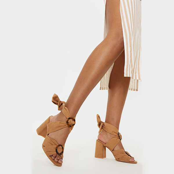 (Pretty Little Thing) Tortoise Buckle Block Heel Sandal (Final Sale) - 2 Love One