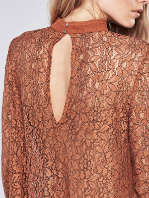 Secret Origins Pieced Lace Tunic in Orange - 2 Love One
