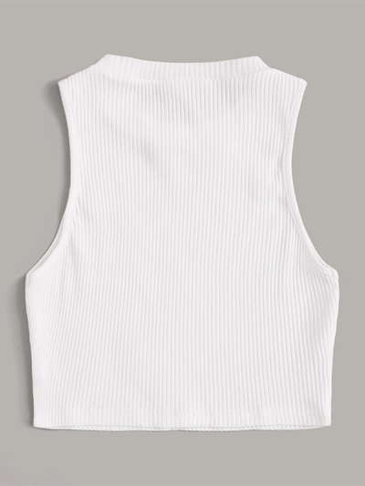 Solid Ribbed Knit Tank Top - 2 Love One