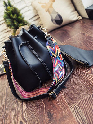 Vera Aztec Strap Bucket Bag - 2 Love One
