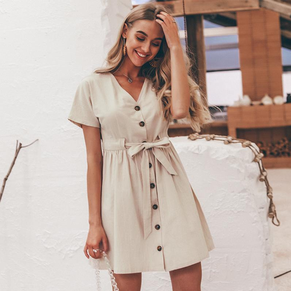 Vintage Button-Up Shirt Dress - 2 Love One
