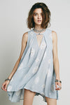 Retro Print Swing Tunic Light Blue - 2 Love One