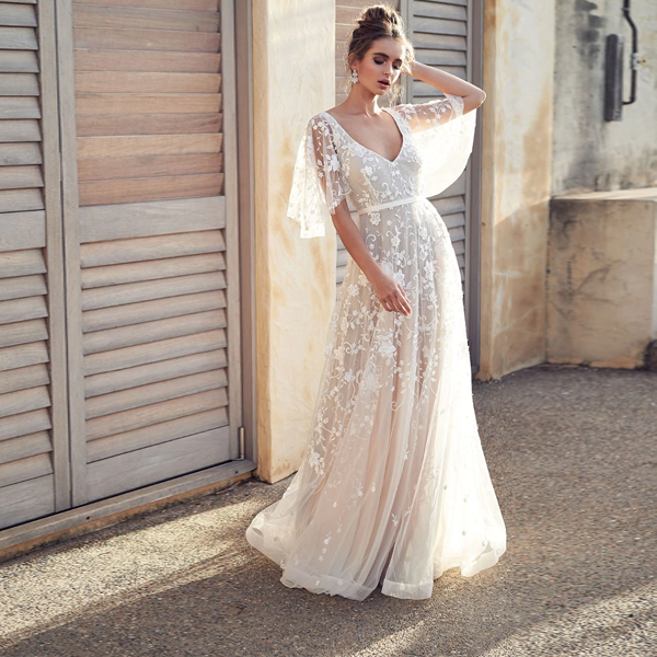 Wanderlust Bohemian Bride Dress - 2 Love One