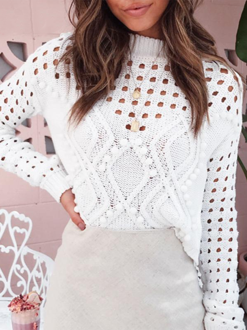 White Dreamin' Hollow Out Knit Top - 2 Love One
