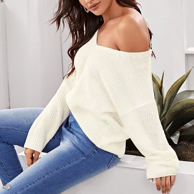 Willow Lace Up Backless Sweater - 2 Love One