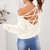 Willow Lace Up Backless Sweater