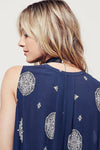 Retro Print Swing Tunic in Navy - 2 Love One