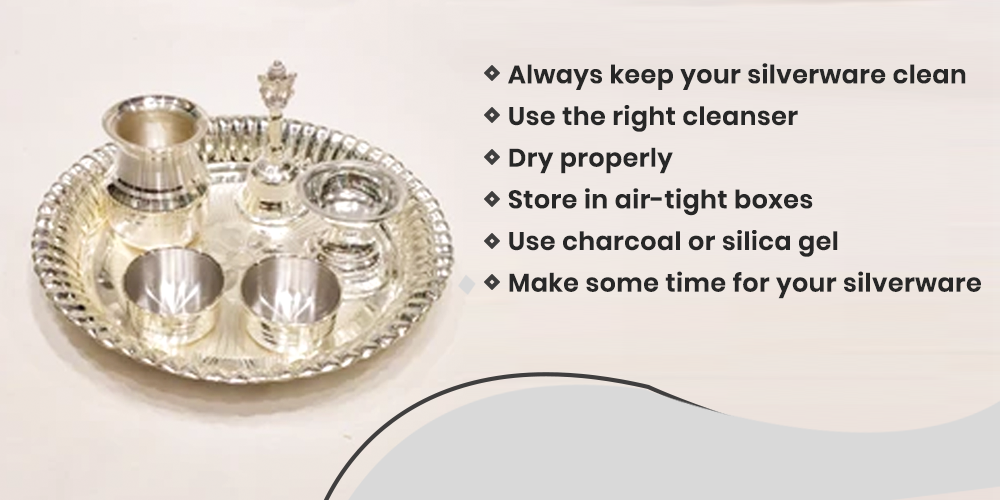 How to store silver pooja items