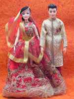 Marriage Wire  Dolls(Set of 2 people)