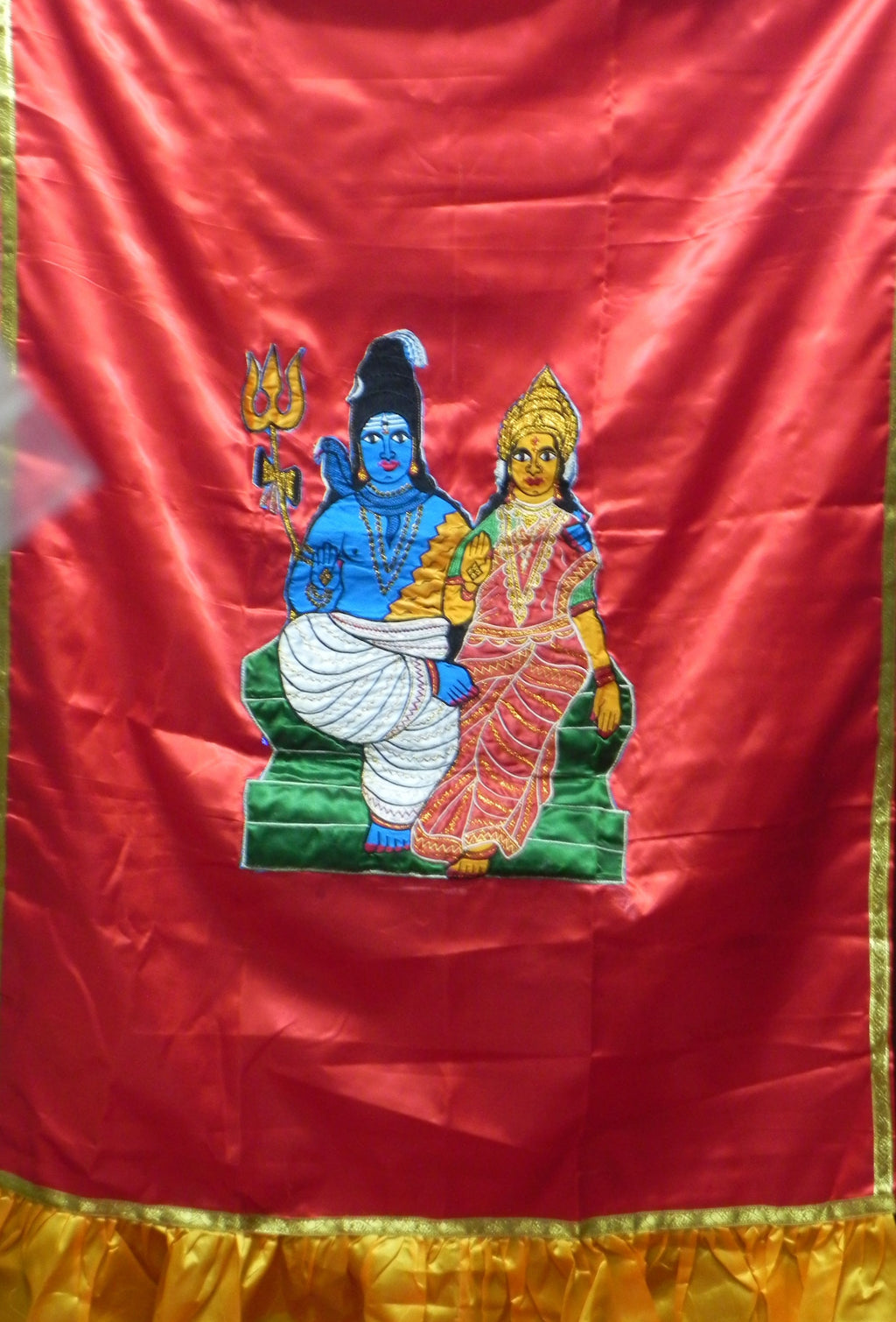 Lord Shiva and Parvathi satin Screen