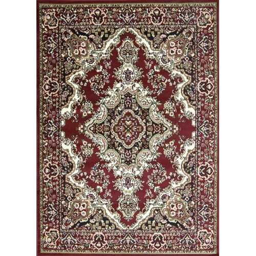 Stevens Oriental Classic Red/Black Indoor Area Rug