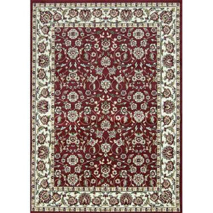 Sun Ray Outline Red Area Rug