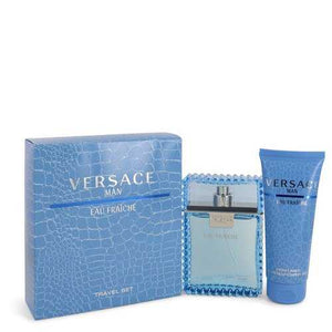 Versace Man by Versace Gift Set -- 3.3 oz Eau De Toilette Spray (Eau Frachie) + 3.3 oz Shower Gel (Men)
