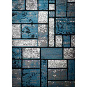 Giuliana Dusty Brick Light Blue/Gray Area Rug 8 ft. by 10 ft.