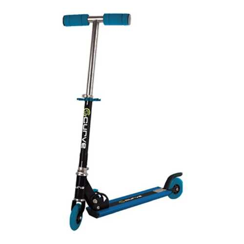 Curve Light Up Wheels Folding Scooter in Blue