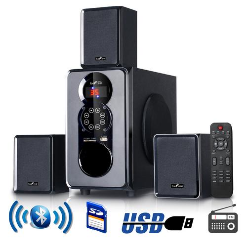beFree Sound 3.1 Channel Surround Sound Bluetooth Speaker System