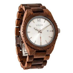 Men Custom Engrave Walnut Wooden Watch - Personalize Your Watch