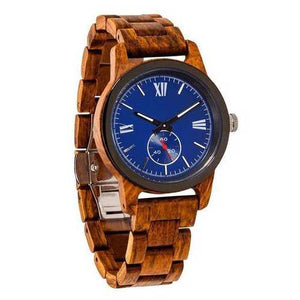 Men Handcrafted Engraving Ambila Wood Watch - Best Gift Idea!
