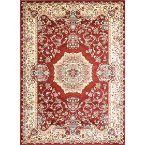 Msrugs Traditional Oriental Medallion Red Beige Area Rug Persian Style Rug 200