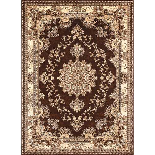 Msrugs Traditional Oriental Medallion Brown Beige Area Rug Persian Style Rug 250