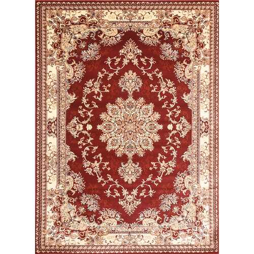 Msrugs Traditional Oriental Medallion Red Beige Area Rug Persian Style Rug 350