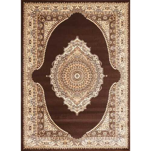 Msrugs Traditional Oriental Medallion Brown Beige Area Rug Persian Style Rug 550