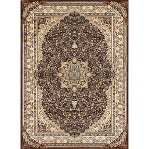 Msrugs Traditional Oriental Medallion Brown Beige Area Rug Persian Style Rug 700