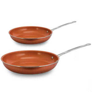 "Ceramic Coated Copper Non-Stick 8"" and 10"" Fry Pan"
