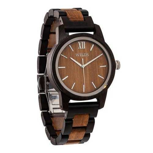 Men Handmade Engraved Walnut Wooden Timepiece - Personal Message on the Watch