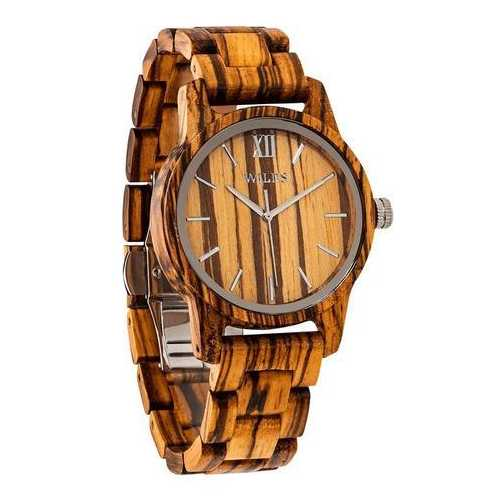 Men Handmade Engraved Zebra Wooden Timepiece - Personal Message on the Watch