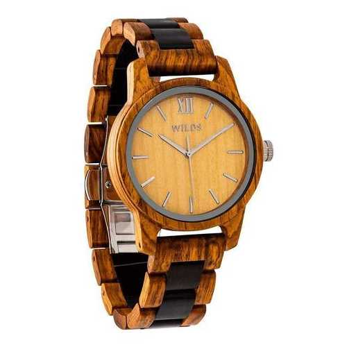 Men Handmade Engraved Ambila Wooden Timepiece - Personal Message on the Watch