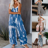 2020 New Tie-dye Jumpsuits Women Casual Jumpsuit Loose Overalls Denim Rompers For Women