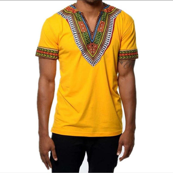 BOHISEN Fashion Mens African Clothes Tops Tee Shirt Homme Africa Dashiki Dress Clothing Brand Casual Short Sleeve TShirt For Men