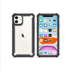 Case for iPhone 11 Pro SE2020 XS Max XR 6 7 8 Plus Heavy Duty Protection armor PC TPU  Shockproof Case Free Tempered Glass cover