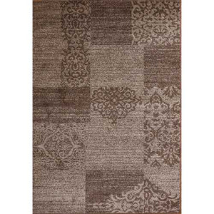 Jena Wave Brown Beige Area Rug 3 ft. by 5 ft.