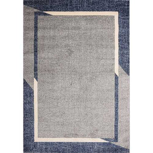 Fine Sleek Blue Beige Area Rug 5 ft. by 7 ft.