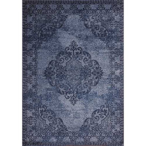 Hena Glory Blue Beige Area Rug 3 ft. by 5 ft.