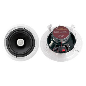 In-Wall / In-Ceiling Dual 8-inch Speaker System, Directable Tweeter, 2-Way, Flush Mount, White