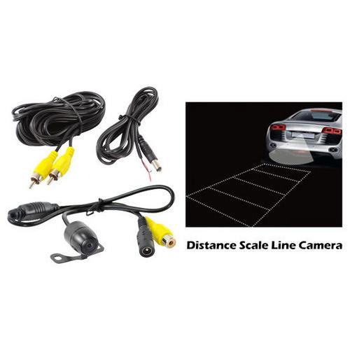 Rear View Backup Camera, Distance Scale Line Display, Waterproof Parking Assist Cam, Universal Multi-Mount