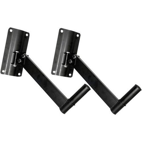 Dual Universal Adjustable Wall Mount Speaker Bracket Stand Holders with Swivel/Angle Adjustment