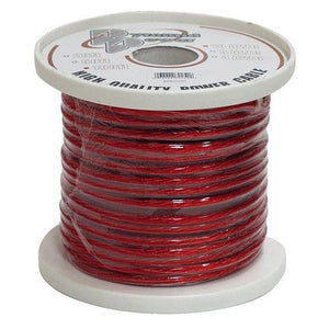 8 Gauge Clear Red Power Wire 100 ft. OFC