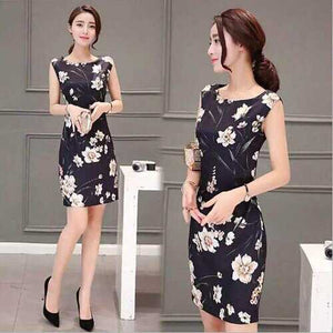 Activity Special Supply Source New Loose Floral Dress Female Long Section Printing Waist