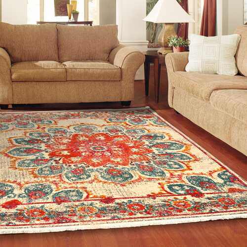 Pomegranate bloom Vintage Area Rug