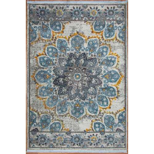 Blueberry bloom Vintage Area Rug