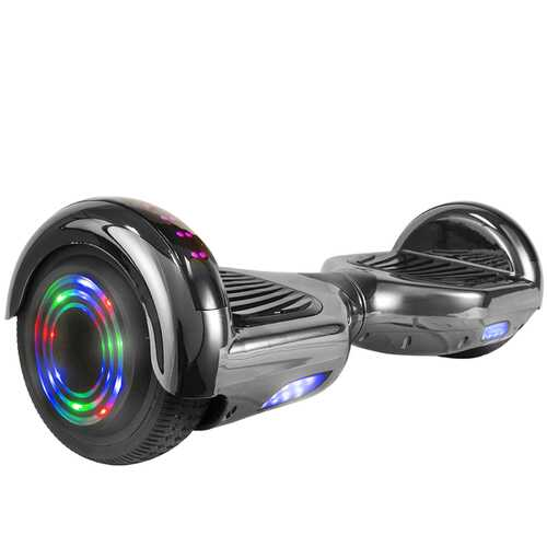 Hoverboard in Black Chrome with Bluetooth Speakers